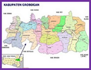 Peta Kabupaten Grobogan